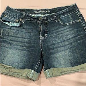 Maurice's cuffed jean shorts